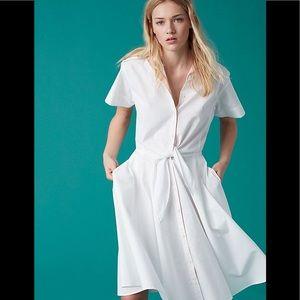 NWT DIANE VON FURSTENBERG White Button-Up Dress